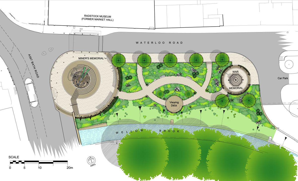 Charming Site Plan For Memorial Garden